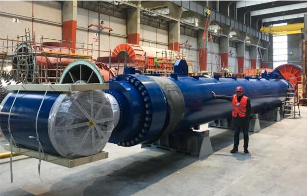 Bosch Rexroth ontwerpt voor een Chinees heischip de zwaarste cilinder ooit, geschikt voor de aanleg van offshore windparken voor de Chinese kust.